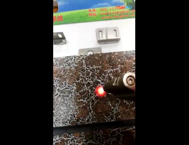 有釉面发泡陶瓷保温板1200°高温破坏性测试